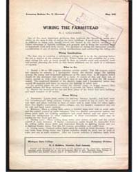 Wiring the Farmstead, Document E72Rev1 by H. J. Gallagher