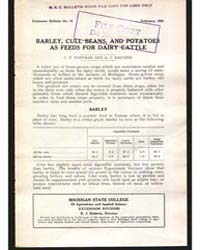 Barley, Cull Beans, and Potatoes as Feed... by C. F. Huffman