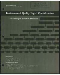 Environmental Quality Legal Consideratio... by Michigan State University