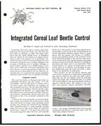 Integrated Cereal Leaf Beetle Control, D... by Ruppel, Robert F.
