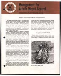 Management for Alfalfa Weevil Control, D... by Ruppel, Robert F.