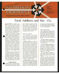 Nutrition Viewpoint on the Everchanging ... by Michigan State University