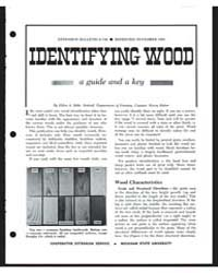 Identifying Wood - a Guide and a Key, Do... by Eldon A. Behr