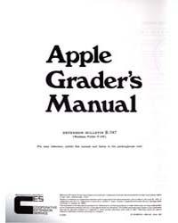 Apple Grader's Manual, Document E747Rev1 by Michigan State University