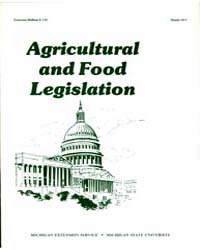 Agricultural and Food Legislation, Docum... by Michigan State University