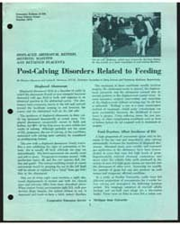 Post-calving Disorders Related to Feedin... by Donald Hillman