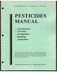Pesticides Manual, Document E751Rev1 by Donald Cress