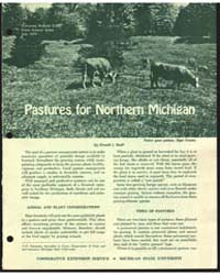 Pastures for Northern Michigan, Document... by Donald J. Reid