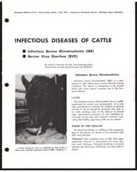 Infectious Diseases of Cattle, Document ... by Louis E. Newman
