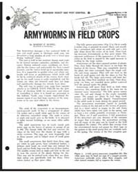Armyworms in Field Crops, Document E755 by Ruppel, Robert F.