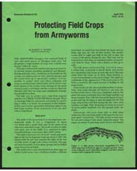 Protecting Field Crops from Armyworms, D... by Ruppel, Robert F.