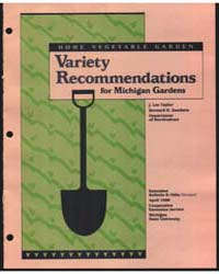 Home Vegetable Garden Variety Recommenda... by Zandstra, Bernard H.
