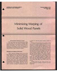 Minimizing Warping of Solid Wood Panels,... by Michigan State University