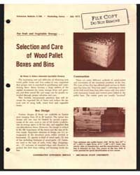 Selection and Care of Wood Pallet Boxes ... by Henry A. Huber