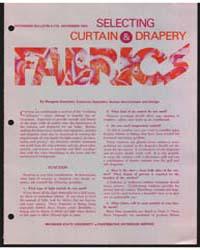 Selecting Curtain & Drapery Fabrics, Doc... by Margaret Boschetti