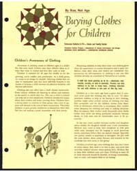 Buying Clothes for Children, Document E7... by Michigan State University