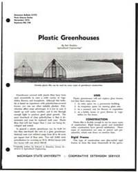 Plastic Greenhouses, Document E775 by Bob Maddex
