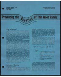 Preventing the Buckling of Thin Wood Pan... by Otto Suchsland