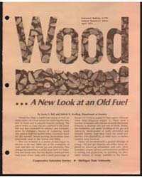 Wood a New Look at an Old Fuel, Document... by Lester E. Bell