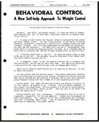 Behavioral Control : a New Self-help App... by Dean, Anita