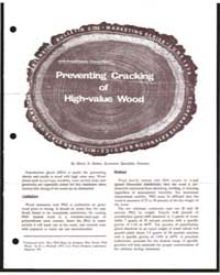 Preventing Cracking of High-value Wood, ... by Henry A. Huber.