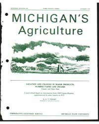 Michigan's Agriculture, Document E785 by K. T, Wright