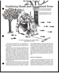 Fertilizing Shade and Ornamental Trees, ... by Koelling, Melvin R.