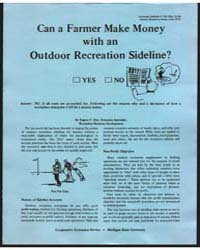 Can a Farmer Make Money with an Outdoor ... by Eugene F. Dice