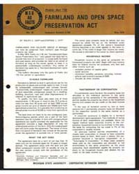 Farmland and Open Space Preservation Act... by Ralph E. Hepp