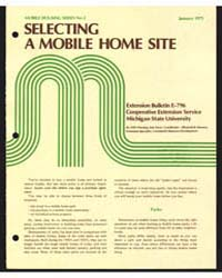 Selecting a Mobile Home Site, Document E... by Michigan State University