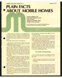 Plain Facts ·about ·.Mobile Homes, Docum... by Michigan State University