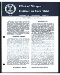 Effect of Nirogen Fertilizer on Corn Yie... by M. L. Vitosh