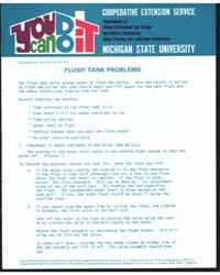 Flush Tank Problems, Document E812 by Michigan State University
