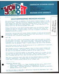 Weatherproofing Michigan Houses, Documen... by James S. Boyd