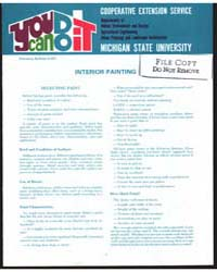 Interior Painting, Document E817 by Michigan State University
