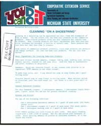 Cleaning on a Shoestring., Document E818 by Gordon E. Guyer