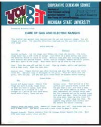 Care of Gas and Electric Ranges, Documen... by Gordon E. Guyer