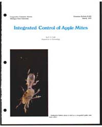Integrated Control of Apple Mites, Docum... by Michigan State University