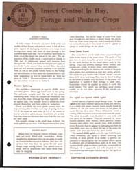 Insect Control in Hay, Forage and Pastur... by Michigan State University