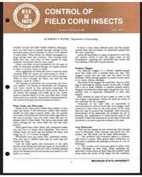 Control of Field Corn Insects, Bulletin ... by Michigan State University
