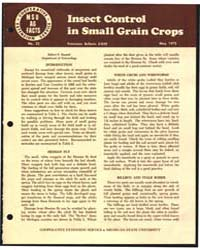 Insect Control in Small Grain Crops, Bul... by Michigan State University