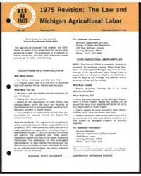 1975 Revision : the Law and Michigan Agr... by Michigan State University