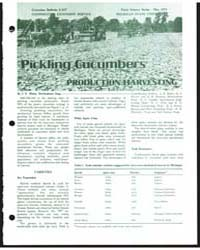 Pickling Cucumbers Production Harvesting... by Michigan State University