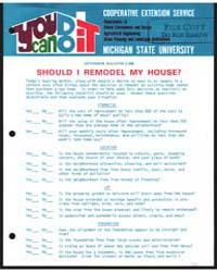 Should I Remodel My House?, Bulletin E-8... by Gordon E. Guyer