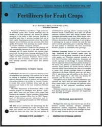 Fertilizers for Fruit Crops, Bulletin E-... by J. Hull, Jr.