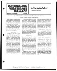 Controlling Vertebrate Damage, Document ... by Glenn Dudderar