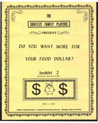 Do You Want More for Your Food Dollar?, ... by Dean, Anita