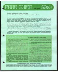 Food Guide for Your 50S+, Document E900 by Dean, Anita
