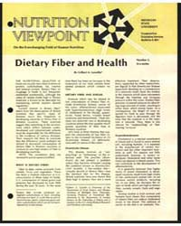 Dietary Fiber and Health, Document E901 by Gilbert A. Leveille
