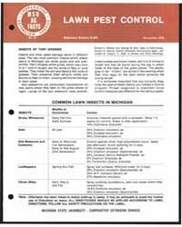 Lawn Pest Control, Document E903 by William E. Wallner